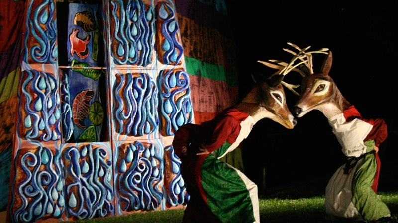 Scene from the 2007 Esopus Creek Puppet Suite