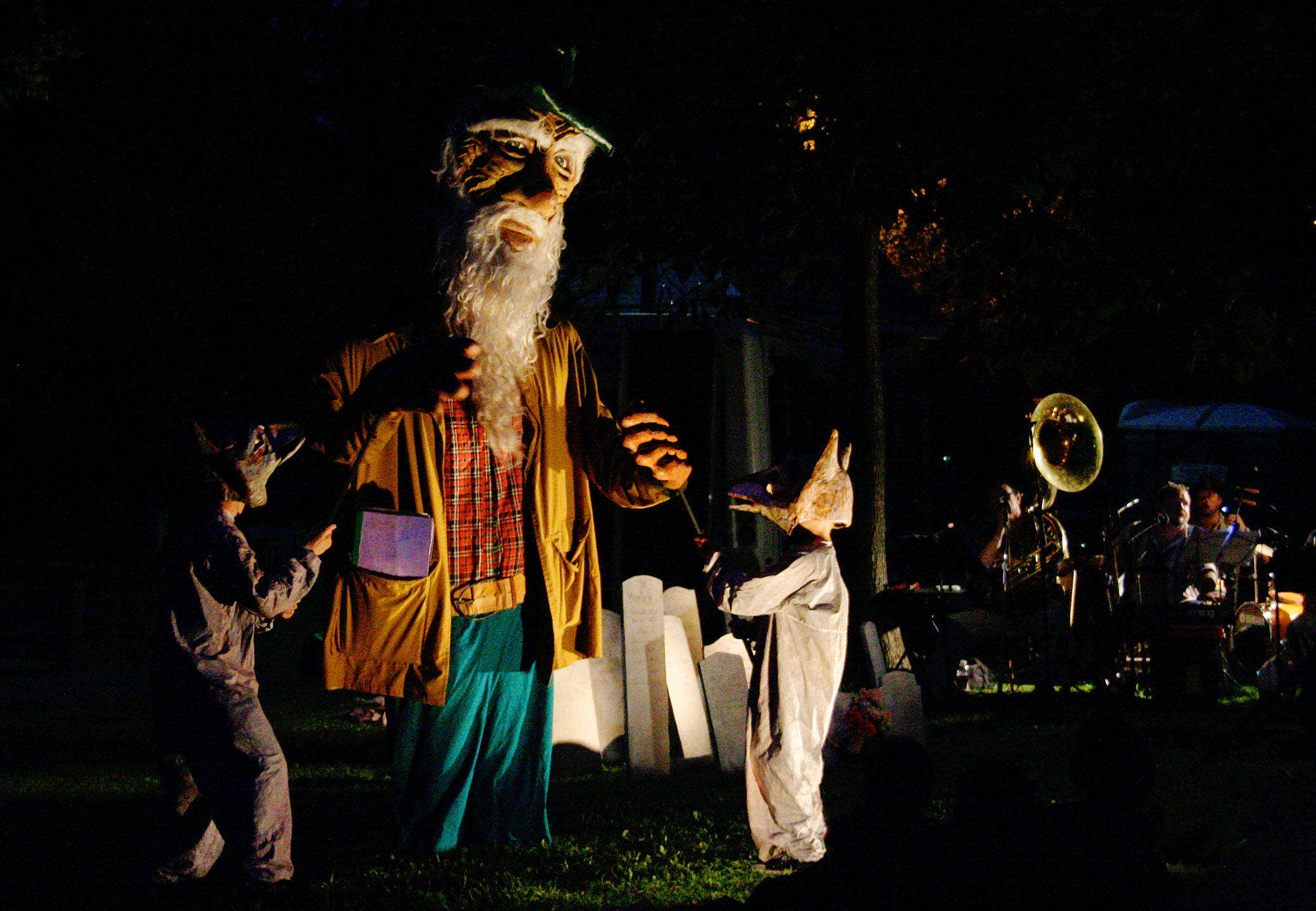 Rip Van Twinkle & Wolves from 2007 Puppet Suite, photo by Fionn Reilly