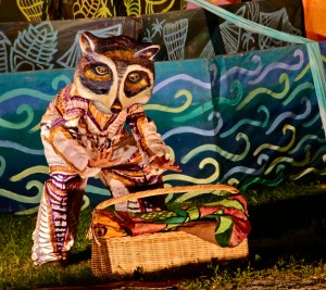 Raccoon, from the 2013 Puppet Suite, photo by Jim Peppler